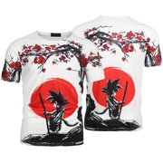 KABOER Men Goku Graphic Printed Shirt Anime Z Dragon Ball 3D Print T Shirt Tee
