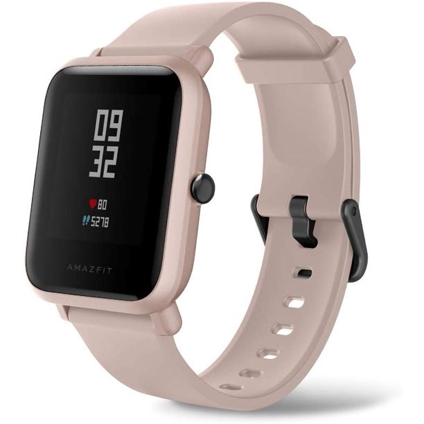 Amazfit Bip Lite by Huami with 45-Day Battery Life,24/7 Heart Rate 1.2 Inch Always-on Touchscreen 3 ATM, US Service and Warranty, Pink