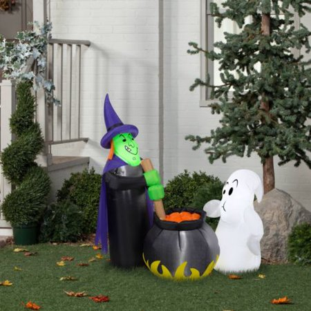 Halloween Airblown Inflatable 4ft. Potion Tasting Witch