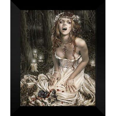 FrameToWall - Vampire Girl 20x24 Framed Art Print by Victoria Frances