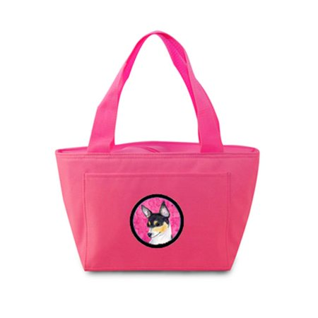 Pink Chihuahua Zippered Insulated School Washable And Stylish Lunch Bag Cooler - image 1 de 1