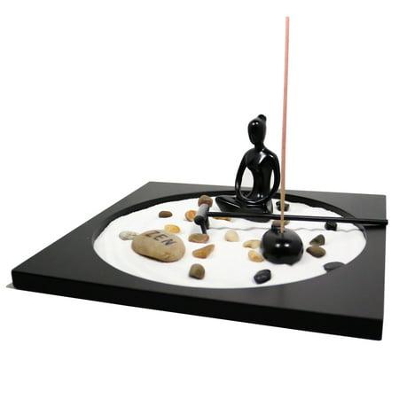 Party Tray Burners (Incense Burner Stand Set Japanese Garden Blessing Feng Shui Sand Yoga Meditation Tray)