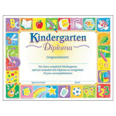 Trend Enterprises T-17002-6 Classic Diploma Kindergarten, 8.5 x 11 in. - 30 Per Pack - Pack of 6 - image 1 of 1