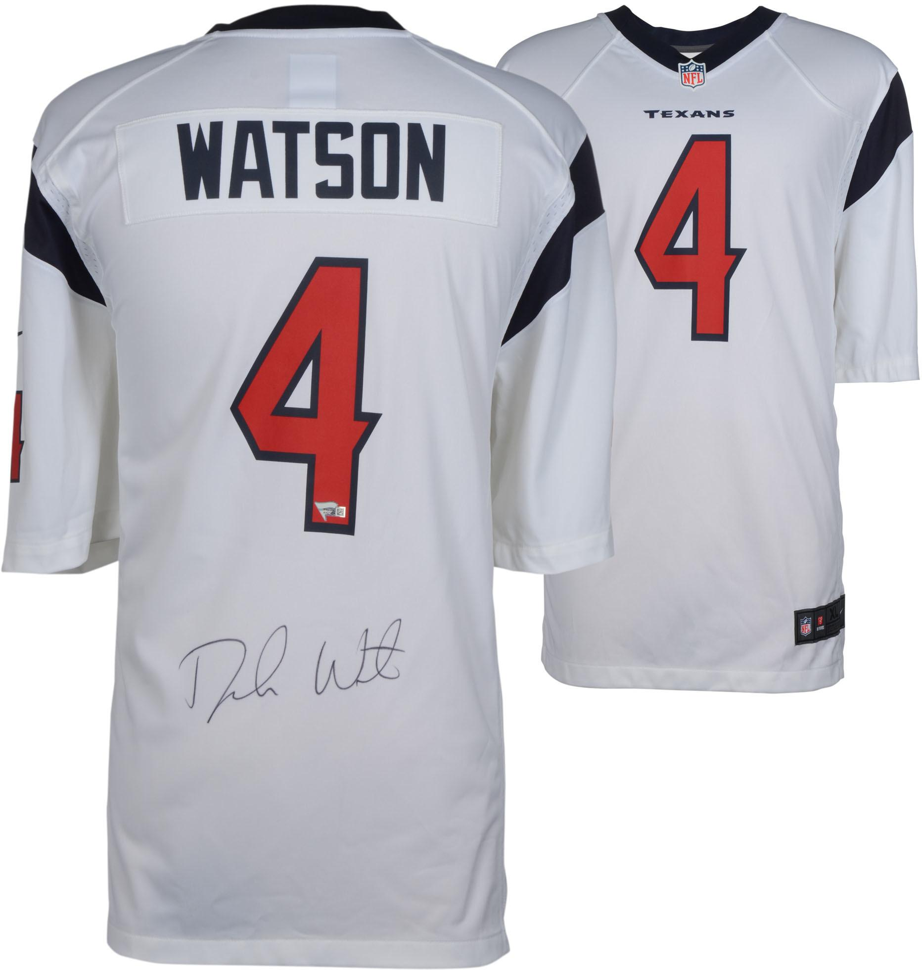 Deshaun Watson Houston Texans Autographed White Game Jersey - Fanatics Authentic Certified - Walmart.com