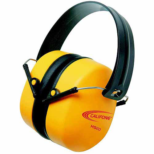 Califone Hearing Safe Best Hearing Protector, 37dB, Bright Yellow Safety