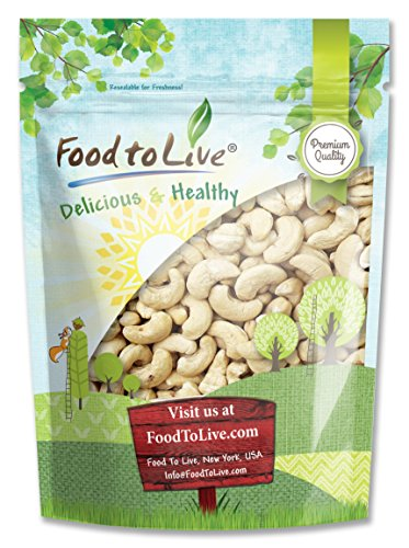 Food To Live Cashews (Whole, Raw) (2 Pounds) by Food To Live