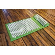 Sivan Health and Fitness Yoga and Pilates Mat with Non-Skid Ridges, Green
