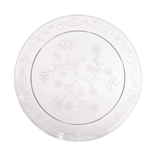 6.25 Clear Plastic DisposIle Scrollware Plates 20ct