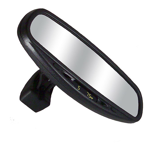 CIPA 36400 Wedge Base Auto Dimming Mirror with Compass and Temperature