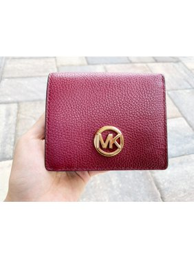 7cd83bacda Product Image Michael Kors Fulton Carryall Card Case Wallet Mulberry  Burgundy Leather
