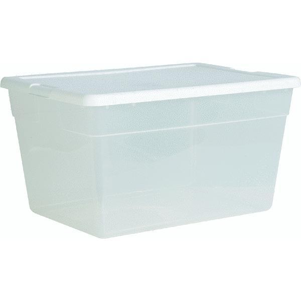 56 Quart Clear Storage Tote