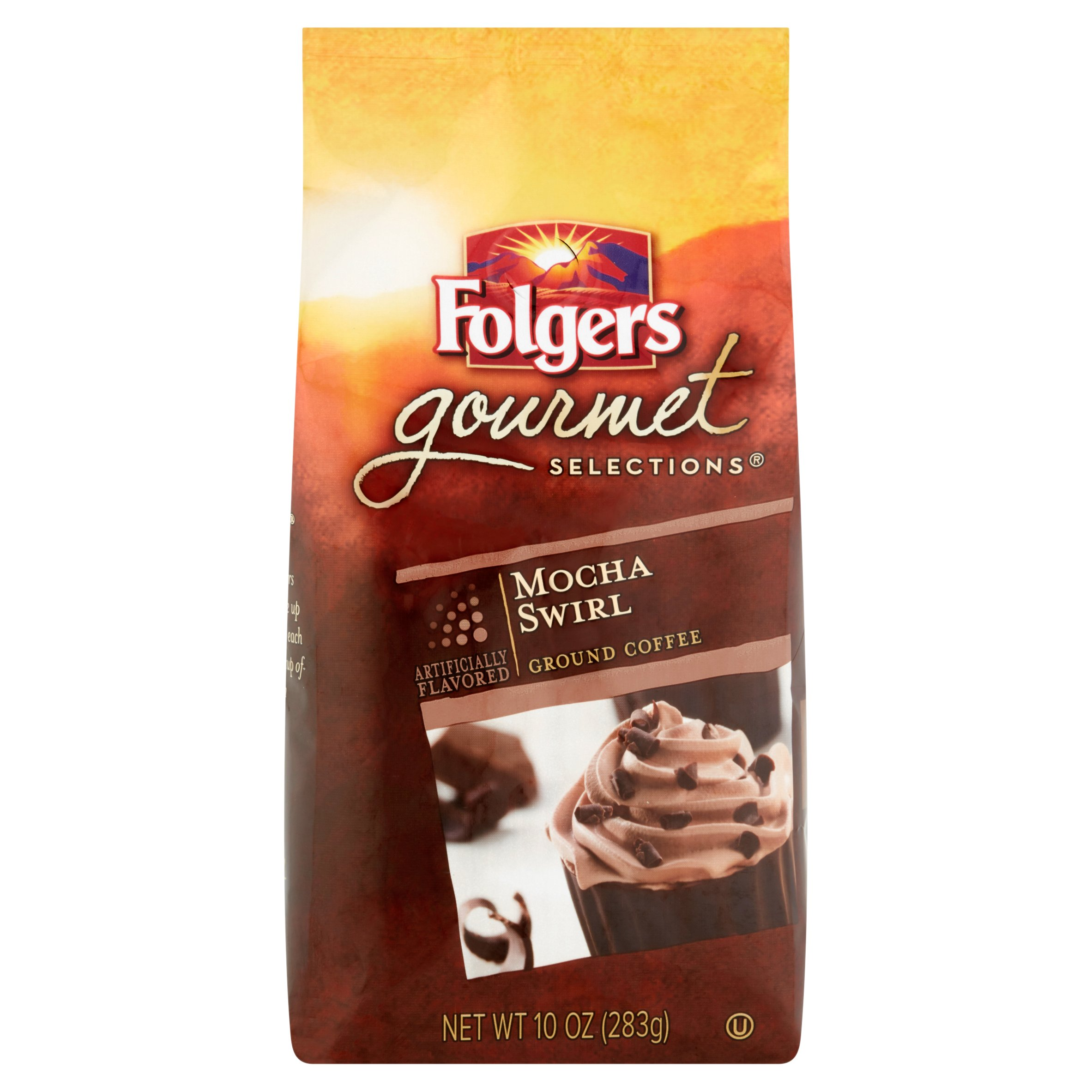 Folgers Gourmet Selections Mocha Swirl Ground Coffee, 10 oz