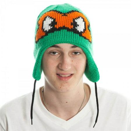 Laplander Beanie Cap - Teenage Mutant Ninja Turtles - Blue/Orange Mask kc0clltmt