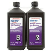 Equate 3% Hydrogen Peroxide Liquid Antiseptic, 32 fl oz, 4 Pack