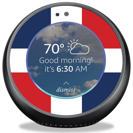 Skin For Amazon Echo Spot   Dominican Flag  Mightyskins Protective  Durable  And Unique Vinyl Decal Wrap Cover   Easy To Apply  Remove  And Change Styles   Made In The Usa