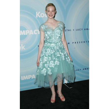 Elle Fanning At Arrivals For 2011 Women In Film Crystal  Lucy Awards Beverly Hilton Hotel New York Ny June 16 2011 Photo By Elizabeth GoodenoughEverett Collection (Shape Crystal Award)