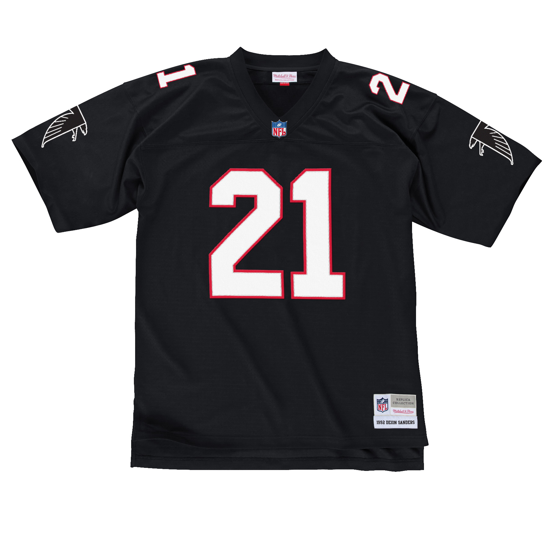 Deion Sanders Atlanta Falcons NFL Mitchell & Ness Throwback Premier Black Jersey