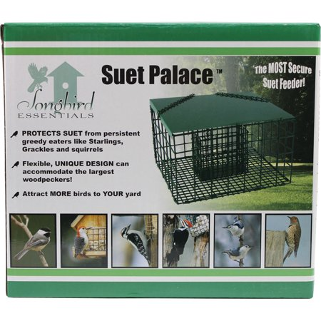 Songbird Essentials-Squirrel Resistant Suet Palace- Green 1 Suet (Songbird Essentials Squirrel)
