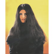 Star Power Long Economy Woman Witch Costume Wig, Black, One Size