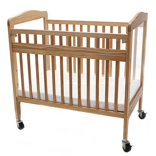L.A. Baby Compact Convertible Crib  with Mattress
