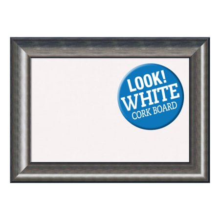 Amanti Art DSWQUICB3022 Quicksilver 30 Inch x 22 Inch Framed White ...
