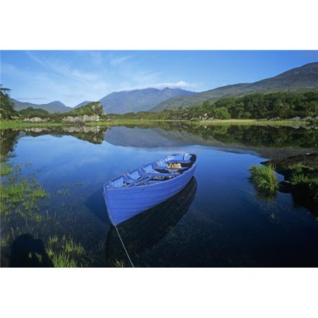 High Angle View of A Boat in a Lake Killarney County Kerry Republic of Ireland Poster Print by The Irish Image Collection, 18 x 12 - image 1 de 1
