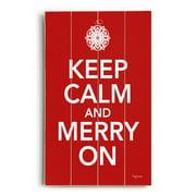 Artehouse LLC Keep Calm and Merry On Wall D cor