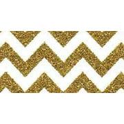 "Doodlebug Sugar Coated Patterned Cardstock 12""X12""-Gold Metallic Chevron"