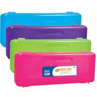 Pencil Box Ruler Length Asst Colors Pk12