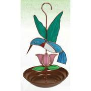 Gift Essentials Hummingbird with Pink Flower Bird Feeder