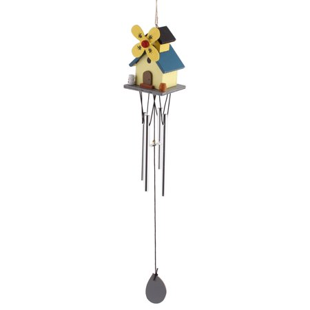 Holiday Gifts Windmill House Pattern Farmhouse Style Hanging Windbell for - Wind Farm