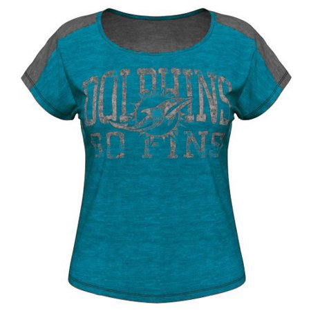 Miami Dolphins Majestic Women's Play For Me T-Shirt - - Miami Dolphins Print
