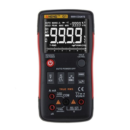 ANENG Q1 True-RMS Digital Multimeter Button 9999 Counts with Analog Bar Graph XI(Not Including -