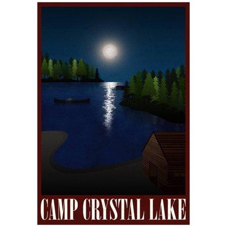 Camp Crystal Lake Retro Travel Poster Poster