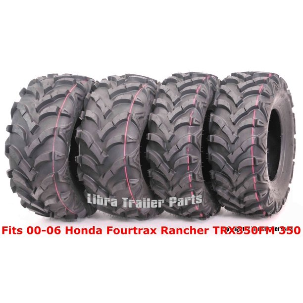 00 06 Honda Fourtrax Rancher Trx350fm 350 4x4 Set 4 Atv Tires 24x8