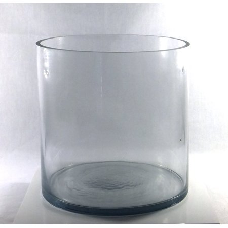 8 Inch Round Large Glass Vase 8 Clear Cylinder Oversize