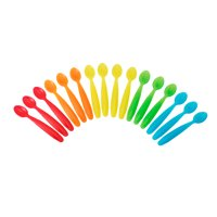 The First Years Take & Toss Dishwasher-Safe Infant Feeding Spoons, Rainbow Colors, 16 Pk