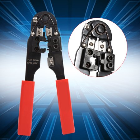 Ejoyous RJ45 RJ11 LAN Network Tool Set Kit Cable Tester Crimper Wire Cutter Punch Down, Network Tool Set Kit - image 7 of 9