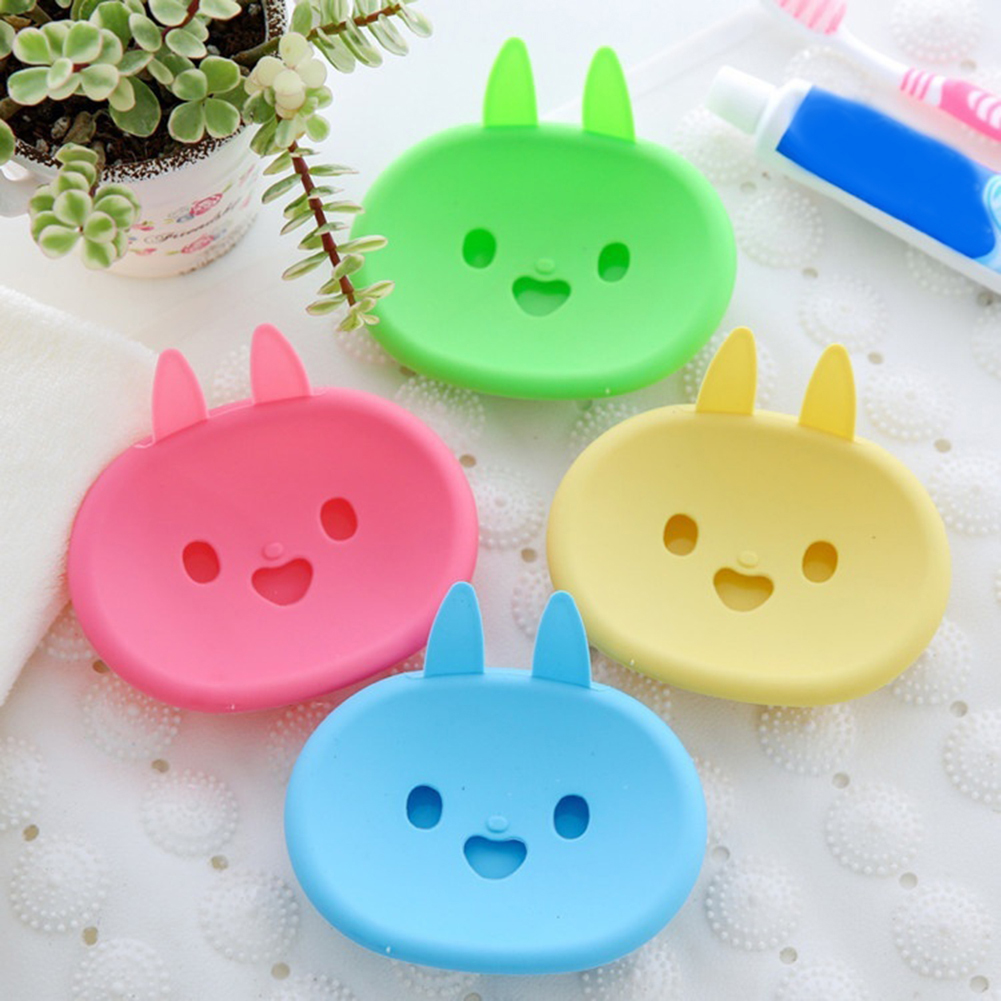 Moderna Lovely Cartoon Rabbit Bathroom Soap Dish Box Double Layer Draining Soap Holder