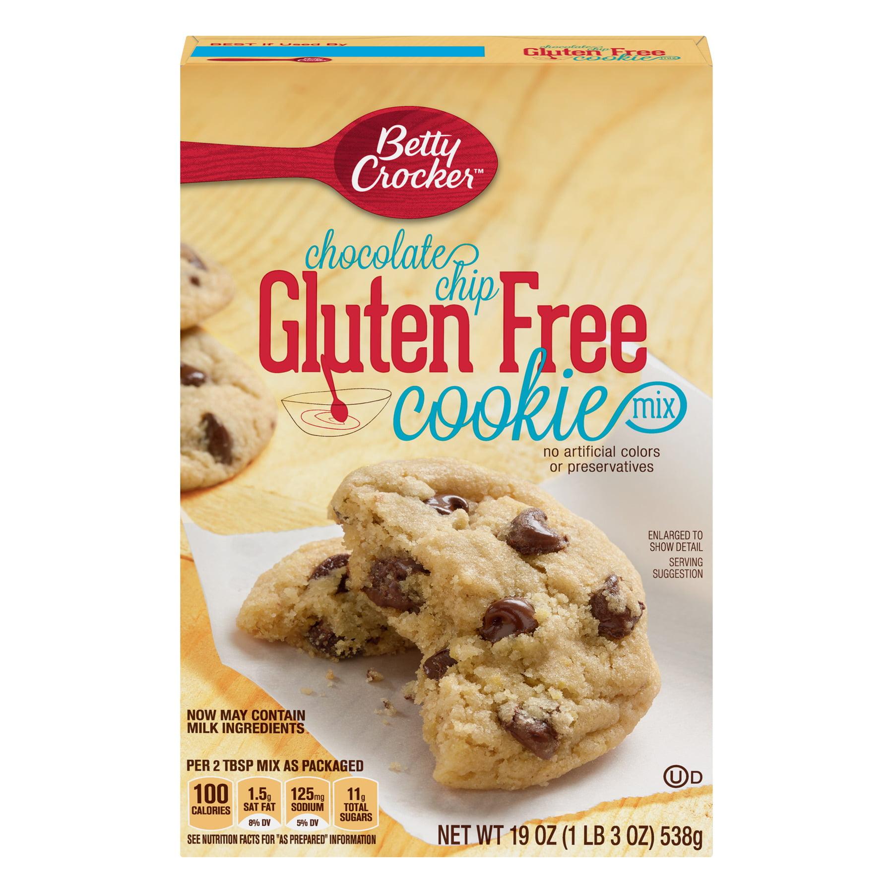 Betty Crocker Gluten Free Chocolate Chip Cookie Mix, 19 oz - Walmart.com