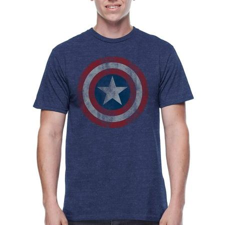 Captain America Shield Mens Graphic Tee