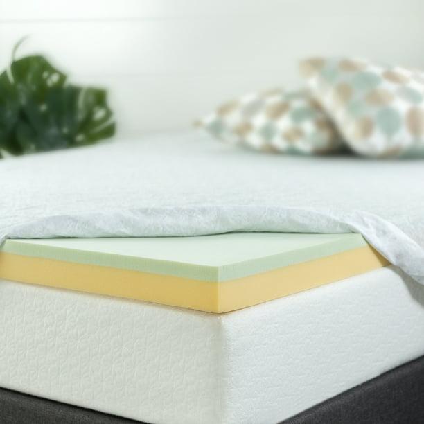 "Zinus 3"" Green Tea Memory Foam Mattress Topper, Twin XL ..."