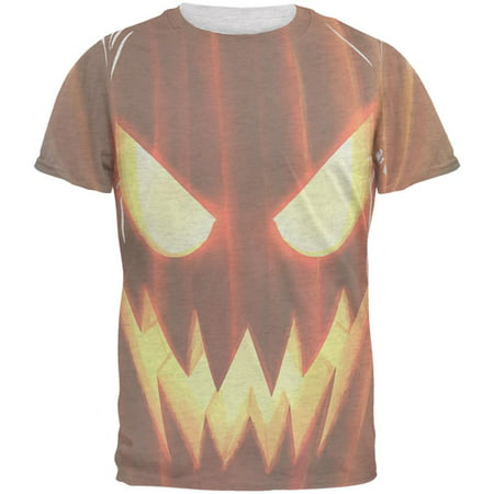 Halloween Scary Jack-O-Lantern Costume Mens T Shirt (Scary Eyes Halloween Makeup)