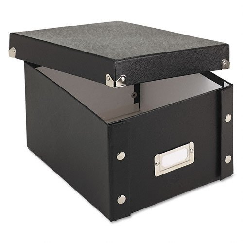"Ideastream Idea Stream Snap-n-store Index Card Box With Label Holder - 1100 X Card - 5.3"" Height X 8.3"" Width X 9"" Depth External Dimensions - Fiberboard - Black - Card (SNS01647)"