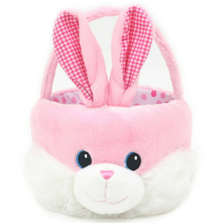 Easter Wal Mart 10  Plush Chubby Cheeks Basket  Bunny