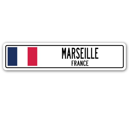 MARSEILLE, FRANCE Street Sign French flag city country road wall - Marseilles Bedroom