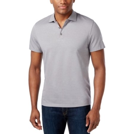 - Alfani NEW Gray Shark `Mens Size XL Polo Rugby Solid Seamed Shirt