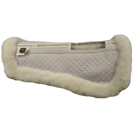 ECP Sheepskin Wither Relief Half Saddle Pad (Large, White)