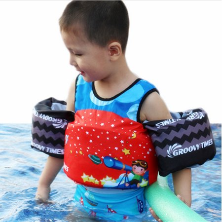 Toddler Life Jacket Kids Swim Floaties Vest Arm Bands Puddle Jumper Swimming Pool Wear Float Safe Trainer Life Jacket for Baby Toddlers Kids Boys (Children Floaties)