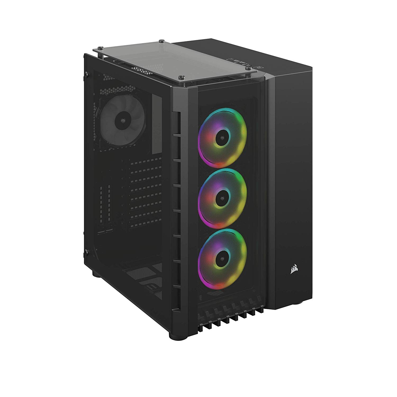 Corsair Crystal 680X RGB Computer Case with Windowed Side Panel - Black
